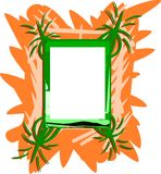 Colorful abstract frame isolated Royalty Free Stock Photography