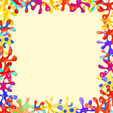 Colorful Abstract Frame with Splash Blots Royalty Free Stock Image