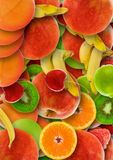 Colorful abstract fruit background Royalty Free Stock Photos