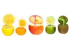 Colorful abstract fruit drink Stock Image