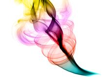 Colorful Abstract fume swirls on white. Colorful Abstract fume swirls over the white background Stock Photography