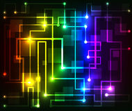 Colorful Abstract futuristic modern hi-tech glowing background Stock Images