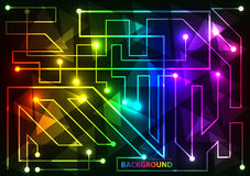Colorful Abstract futuristic modern hi-tech glowing background Stock Photography