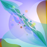 Colorful abstract geometric background. With circles and waves Royalty Free Stock Photography
