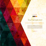 Colorful abstract geometric background Stock Photos