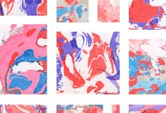Colorful abstract geometric background with shapes. Colorful abstract geometric hand painted background Royalty Free Stock Image