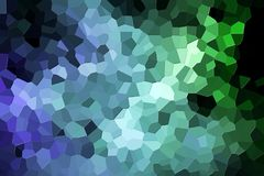 Abstract geometric polygons and triangles. Colorful abstract geometric background with  solid figures. Abstract modern background with  green and blue polygons Stock Image