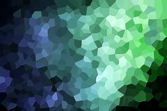 Abstract geometric polygons and triangles. Colorful abstract geometric background with  solid figures. Abstract modern background with  green and blue polygons Royalty Free Stock Photography