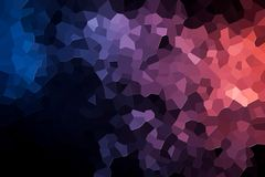 Abstract geometric polygons and triangles. Colorful abstract geometric background with  solid figures. Abstract modern background with   blue and pink polygons Royalty Free Stock Photos
