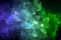 Abstract geometric polygons and triangles. Colorful abstract geometric background with  solid figures. Abstract modern background with  green and blue polygons Stock Photography