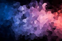 Abstract geometric polygons and triangles. Colorful abstract geometric background with  solid figures. Abstract modern background with  pink, purple  and blue Royalty Free Stock Images