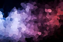 Abstract geometric polygons and triangles. Colorful abstract geometric background with  solid figures. Abstract modern background with  pink, purple  and blue Stock Photos