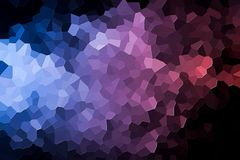 Abstract geometric polygons and triangles. Colorful abstract geometric background with  solid figures. Abstract modern background with  pink, purple  and blue Royalty Free Stock Photo