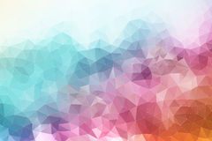 Colorful abstract geometric background. With triangular polygons Stock Photography