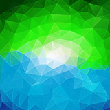 Colorful abstract geometric background. With triangular polygons Stock Images