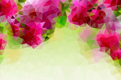 Colorful abstract geometric background. With triangular polygons Stock Photos