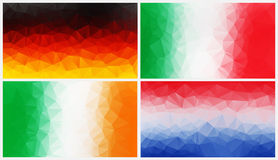 Colorful abstract geometric background with triangular polygons Royalty Free Stock Images