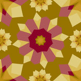 Colorful  abstract geometric floral  seamless pattern. Stock Photography