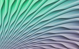Colorful Abstract Geometric Illustration With Radiating Arcs And Curves Stock Photos