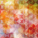 Colorful abstract geometric ink pattern Royalty Free Stock Image