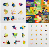 Colorful abstract geometric layouts, mega Stock Images