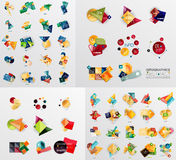 Colorful abstract geometric layouts, mega Stock Image