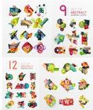 Colorful abstract geometric layouts, mega Royalty Free Stock Photos