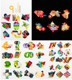 Colorful abstract geometric layouts, mega Royalty Free Stock Photo