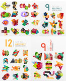 Colorful abstract geometric layouts, mega Royalty Free Stock Image