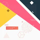Colorful abstract geometric memphis background. Vector Stock Photos