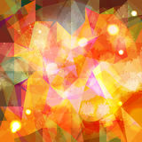 Colorful abstract geometric red pattern Stock Image