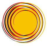 Colorful abstract geometric sun. Abstract geometric sun. Combination of colors red, black and yellow, Arabesque and Indian motif stock illustration