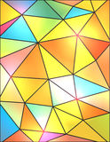 Colorful Abstract Geometric Triangles Background Illustration Stock Image
