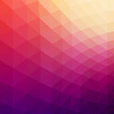 Colorful Abstract Geometric Vector Background. Triangle shapes. Mosaic pattern. Hipster background with copyspace. Retro styled banner template. Halftone Stock Photo