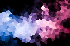 A photograph of an abstract geometric pattern. Colorful abstract geometrical composition, geometric pattern from blue and pink various polygons and triangles  on Royalty Free Stock Images
