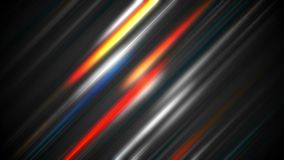 Colorful abstract glowing stripes video animation stock video