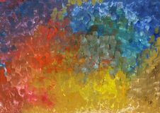 Colorful abstract gouache paint texture on paper, gradient background.  vector illustration