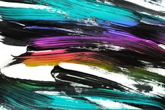 Colorful abstract gouache painting stock photography