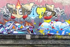 Colorful abstract graffiti Stock Photography