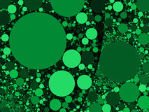 Colorful abstract green circles background illustration Royalty Free Stock Photo
