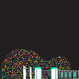 Colorful abstract guitar background Stock Photos