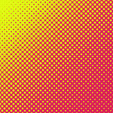Colorful abstract halftone background design. Colorful abstract halftone pattern design - yellow dots on red background - summer sunshine concept vector stock illustration