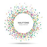 Colorful Abstract Halftone Logo Design Element Stock Photo