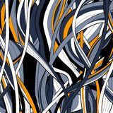 Colorful abstract hand-drawn pattern, hairs Stock Images