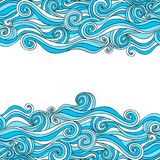 Colorful abstract hand-drawn pattern, waves background Royalty Free Stock Photography