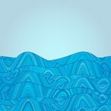 Colorful abstract hand-drawn pattern, waves background Royalty Free Stock Image