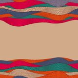 Colorful abstract hand-drawn pattern, waves background Stock Photography
