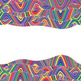 Colorful abstract hand-drawn pattern, waves background Royalty Free Stock Images