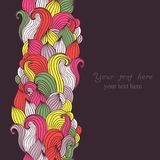 Colorful abstract hand-drawn pattern, waves background Stock Image