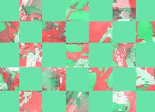 Colorful abstract geometric background with squares. Colorful abstract hand painted geometric background with squares Stock Photography